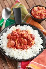 rougail saucisse et riz basmati 6