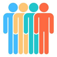 Four Man Sign People Icon