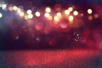 Red glitter vintage lights background