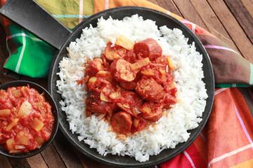rougail saucisse et riz basmati 3