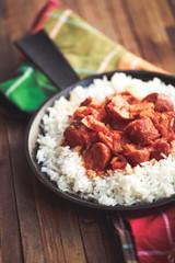 rougail saucisse et riz basmati 2
