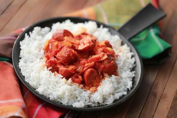 rougail saucisse et riz basmati 1