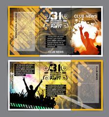 Music club brochure layout