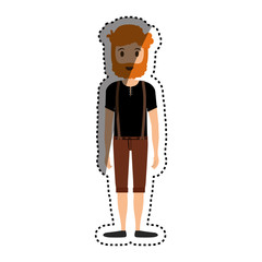 Man cartoon isolated icon vector illustration graphic design