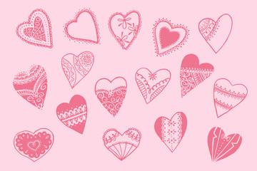 Heart Pattern. Happy Valentine`s Day Background.