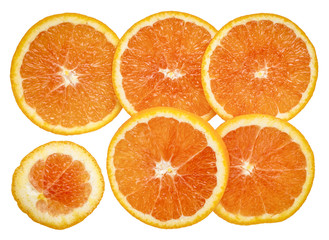 fresh orange slices background