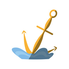 anchor maritime nautical sea shadow vector illustration eps 10