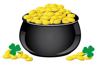 vector pot of gold