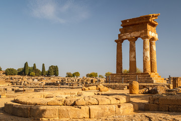 Ruins of the temples in the ancient city of Agrigento, Sicily, I