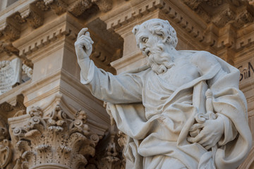 Decoration of the Cathedral of Siracuse historic town, Sicily is