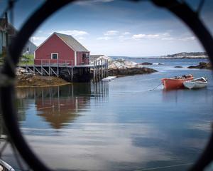 Dorys at rest, Peggys Cove, Nova Scotia