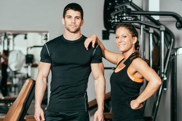 Good looking fitness Instructors