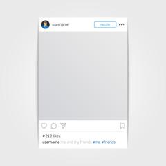 Vector social network photo frame.