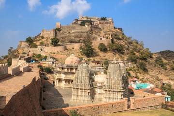 Temple of the interior of Fort Kumbhalgarh, India