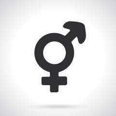 Vector illustration. Silhouette of transgender or hermaphrodite symbol. Gender pictogram. Template or pattern. Decoration for greeting cards, wallpapers, emblems