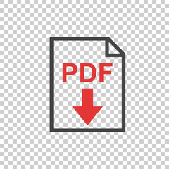 PDF icon on isolated background