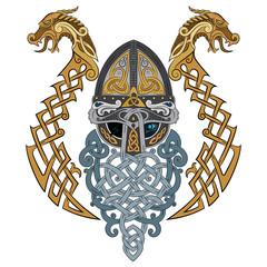 Odin, Wotan. Old Norse and Germanic mythology God in Viking Age.
