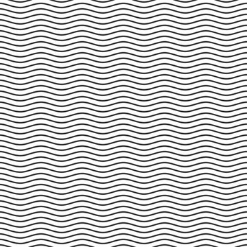 Black seamless wavy line pattern.