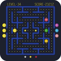Arcade video game concept.