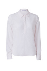 White women's shirt isolated on white background