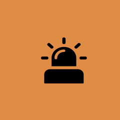 Flasher icon. flat design