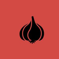 Garlic icon. flat design