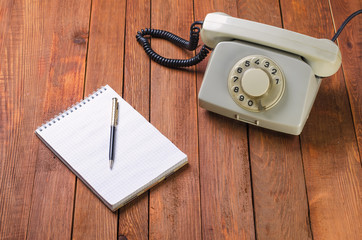 vintage phone in the office