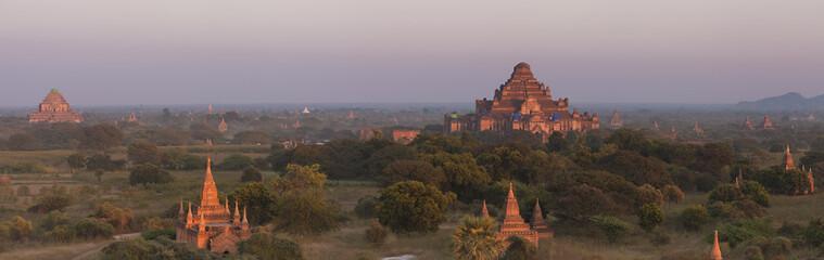 Panorama of Bagan at sunset