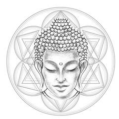 Buddha's head tattoo
