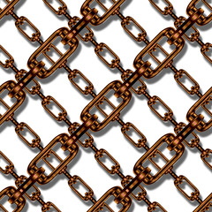Continuous   metal chain pattern