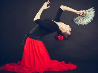 Beautiful woman dancing oriental dance.