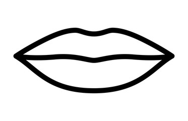 Woman's lips for kissing / kiss line art vector icon for apps and websites