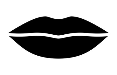 Woman's lips for kissing / kiss flat vector icon for apps and websites