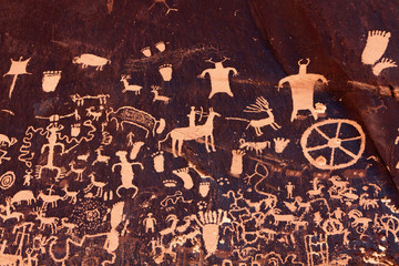 Ancient Petroglyphs at Newspaper Rock State Historic Monument, UT