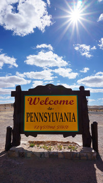 Welcome to Pennsylvania state concept
