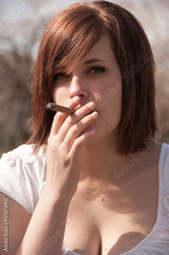 Smoking small girl