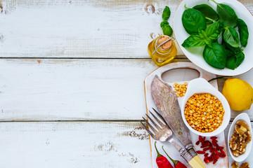 Clean eating cooking ingredients