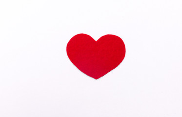 red heart white paper. love card. Valentine's Day postcard. hear
