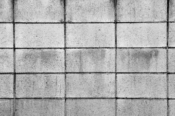 Concrete block wall seamless background and pattern texture
