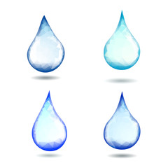 Fresh Water Clear Drop - Vector set