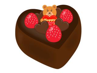 バレンタインケーキ01