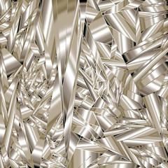 Shattered metal background - vector illustration