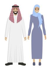 Isolated arabic couple.
