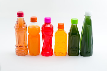 Bottles of Fruit Juices