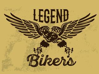 Motorcycle Themed Badge Vectors