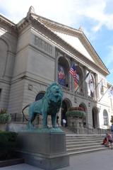 シカゴ美術館の入口