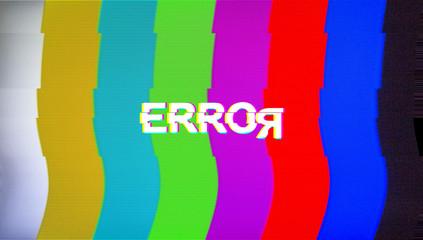 background Distorted glitch TV. Descendant network. Digilal No s