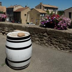 white wine barrel in Provence