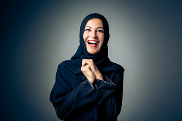 Young Woman Wearing Traditional Arabic Clothing