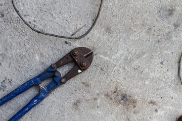 Brand new blue and black bolt cutters